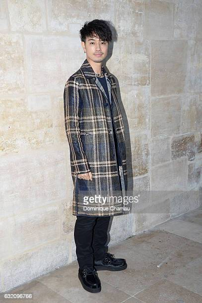 Takumi Saito from J Soul Brothers attends the Louis Vuitton Menswear Fall/Winter 20172018 show as part of Paris Fashion Week on January 19 2017 in...