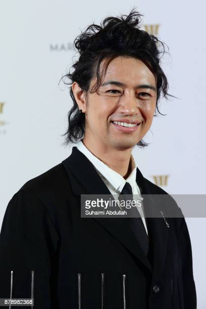 Takumi Saitoh attends The Singapore International Film Festival Benefit Dinner Red Carpet at Sands Expo and Convention Centre on November 25 2017 in...