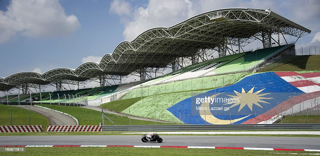 Takumi Takahashi of Japan and HRC test rider rounds the bend during the MotoGP Tests in Sepang - Day Five at Sepang Circuit on February 7, 2013 in Kuala Lumpur, Malaysia.