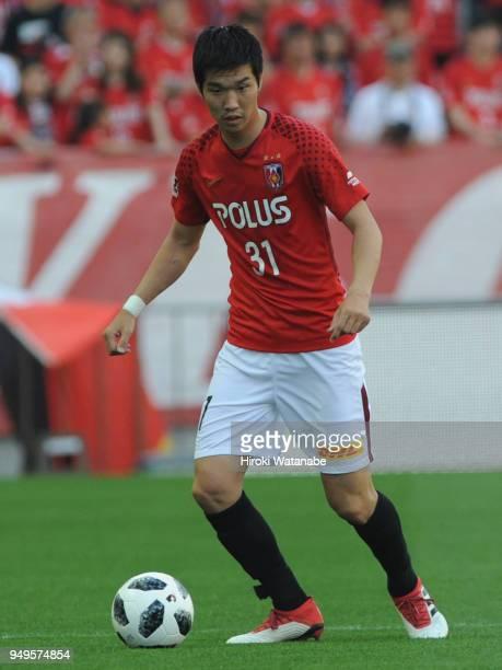 Takuya Iwanami of Urawa Red Diamonds in action during the JLeague J1 match between Urawa Red Diamonds and Consadole Sapporo at Saitama Stadium on...