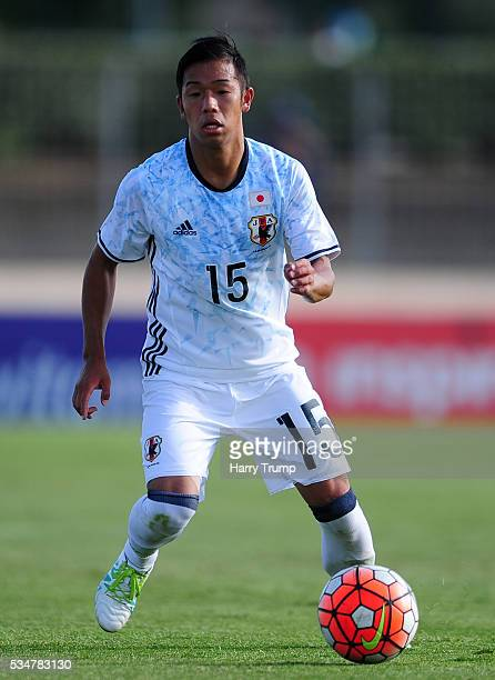 Takuya Kida of Japan during the Toulon Tournament match between Guinea and Japan at Stade Antoinr Baptiste on May 25, 2016 in Six-Fours-Les-Plages,...