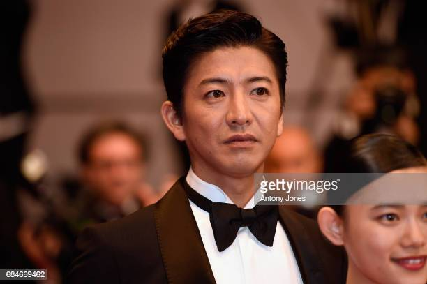 Takuya Kimura attends the 'Blade Of The Immortal ' premiere during the 70th annual Cannes Film Festival at Palais des Festivals on May 18 2017 in...