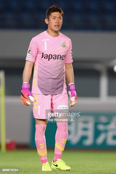 Takuya Masuda of VVaren Nagasaki in action during the JLeague J2 match between VVaren Nagasaki and Avispa Fukuoka at transcosmos Stadium Nagasaki on...