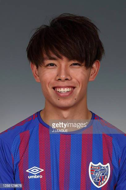 Takuya Uchida poses for photographs during the FC Tokyo portrait session on January 8, 2020 in Japan.