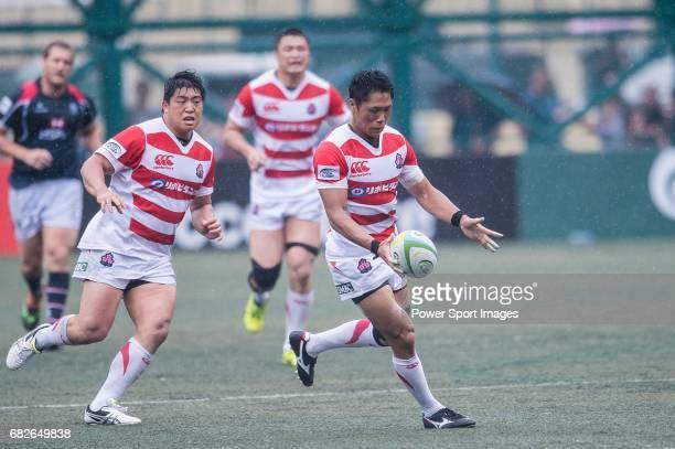 Takuya Yamasawa of Japan in action during the Asia Rugby Championship 2017 match between Hong Kong and Japan on May 13 2017 in Hong Kong Hong Kong