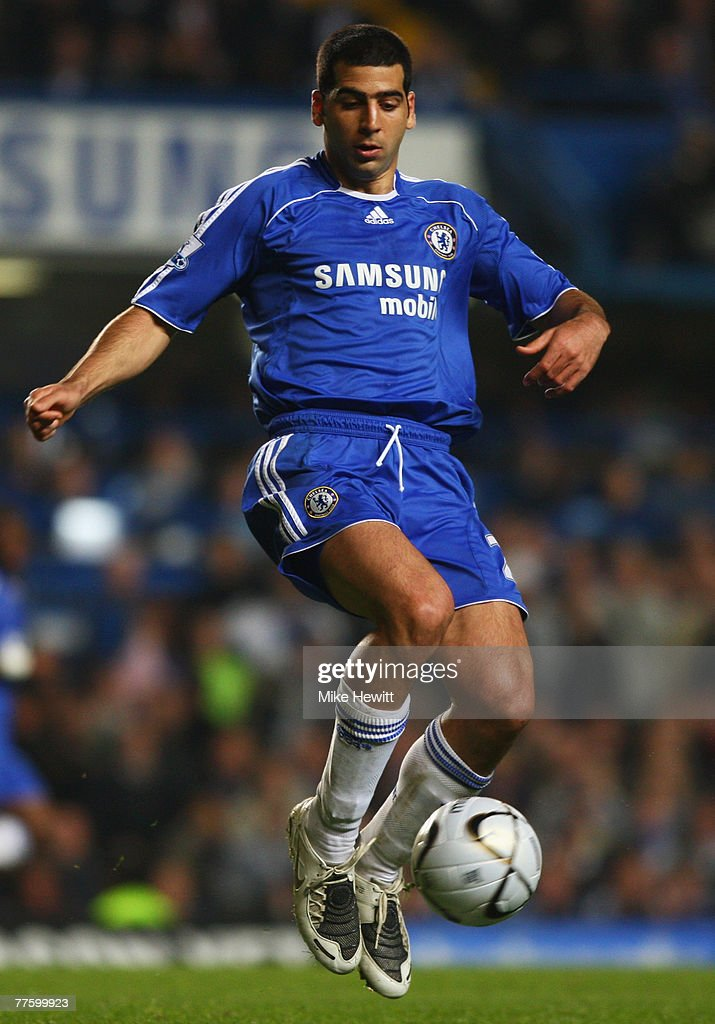 Tal Ben Haim of Chelsea in action during the Carling Cup Fourth Round match between Chelsea and Leicester City at Stamford Bridge on October 31, 2007 in London, England.