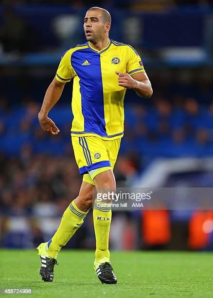 Tal Ben Haim of Maccabi Tel Aviv during the UEFA Champions League group G match between Chelsea and Maccabi TelAviv at Stamford Bridge on September...