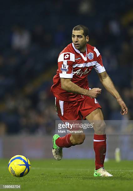 Tal Ben Haim of Queens Park Rangers in action during the FA Cup third round replay between West Bromwich Albion and Queens Park Rangers at The...