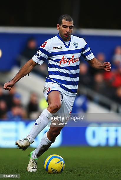 Tal Ben Haim of Queens Park Rangers runs with the ball during the FA Cup with Budweiser Fourth Round match between Queens Park Rangers and Milton...