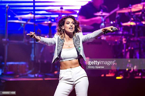 Tal performs during the 'Leurs Voix Pour L'Espoir 2015' Concert at L'Olympia on September 17 2015 in Paris France