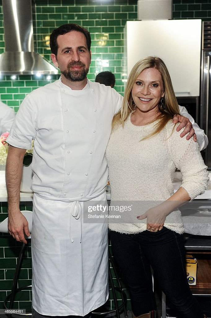 Tal Ronnen and Emily Procter attend Chef Tal Ronnen Presents a Gardein Dinner hosted by Yves Potvin, Stephanie Johnson and SetSipServe at Gardein Tasting Kitchen on January 27, 2014 in Marina del Rey, California.