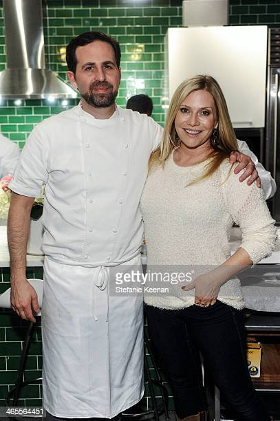 Tal Ronnen and Emily Procter attend Chef Tal Ronnen Presents a Gardein Dinner hosted by Yves Potvin Stephanie Johnson and SetSipServe at Gardein...