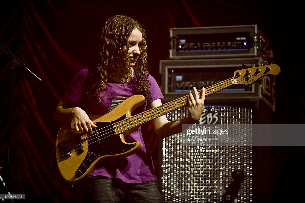 Tal Wilkenfeld performs with Jeff Beck on stage at Poble Espanyol on July 22, 2009 in Barcelona, Spain.