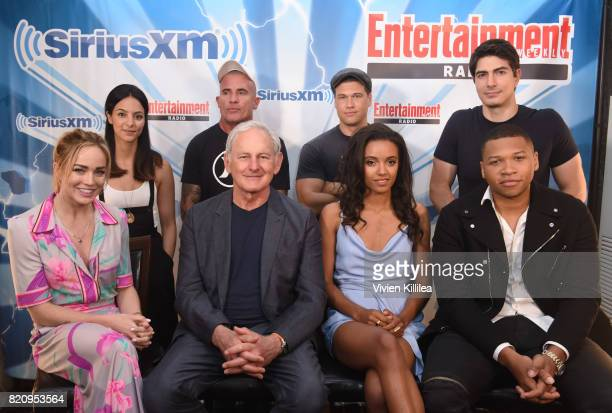 Tala Ashe Dominic Purcell Nick Zano Victor Garber Caity Lotz Brandon Routh Maisie RichardsonSellers and Franz Drameh attend SiriusXM's Entertainment...