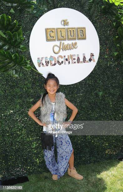 Tala Suehiro arrives for Clubhouse Kidchella held at Pershing Square on April 6 2019 in Los Angeles California