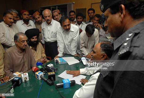 Talal Bugti son of slain rebel tribal chief Nawab Akbar Bugti submits an application for a case of his father's killing against President Pervez...