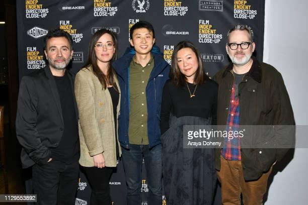 Talal Derki Alexandria Bombach Bing Liu Sandi Tan and Morgan Neville attend the Film Independent Directors CloseUp Another Type Of Narrative The...