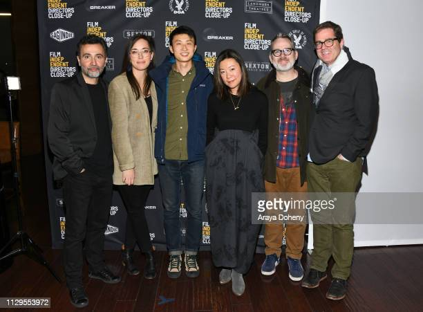 Talal Derki Alexandria Bombach Bing Liu Sandi Tan Morgan Neville and Josh Welsh attend the Film Independent Directors CloseUp Another Type Of...