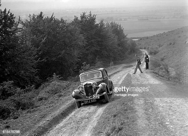 Talbot 10 1185 cc competing in a Talbot CC trial. Talbot 10 1936 1185 cc. Vehicle Reg. No. DPJ521. Event Entry No: 22. Place: Talbot C.C. Trial....