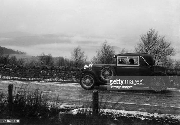 Talbot 14/45 of Kitty Brunell competing in the Monte Carlo Rally, 1929. Artist: Bill Brunell.