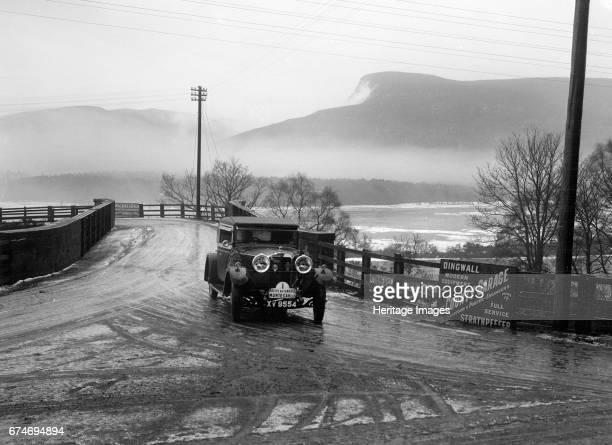Talbot 14/45 of Kitty Brunell competing in the Monte Carlo Rally, near Strathpeffer, Scotland, 1929. Artist: Bill Brunell.