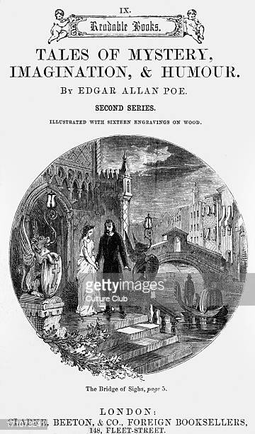Tale of Mystery imagination and humour Tale of Mystery imagination and humour by Edgar Allan Poe Title page illustration for 'The bridge of sighs'...