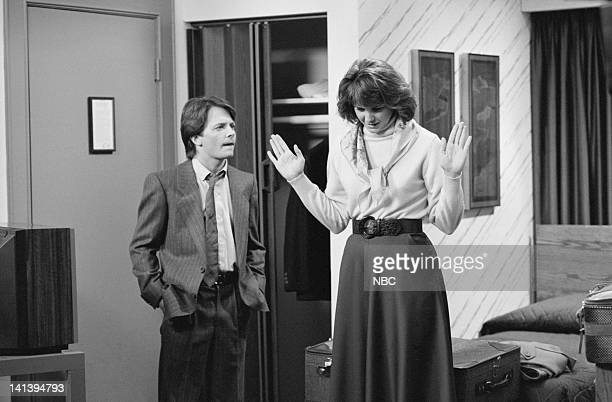 TIES A Tale of Two Cities part 2 Episode 18 Aired Pictured Michael J Fox as Alex P Keaton Melinda Culea as Rebecca Ryan Photo by NBCU Photo Bank