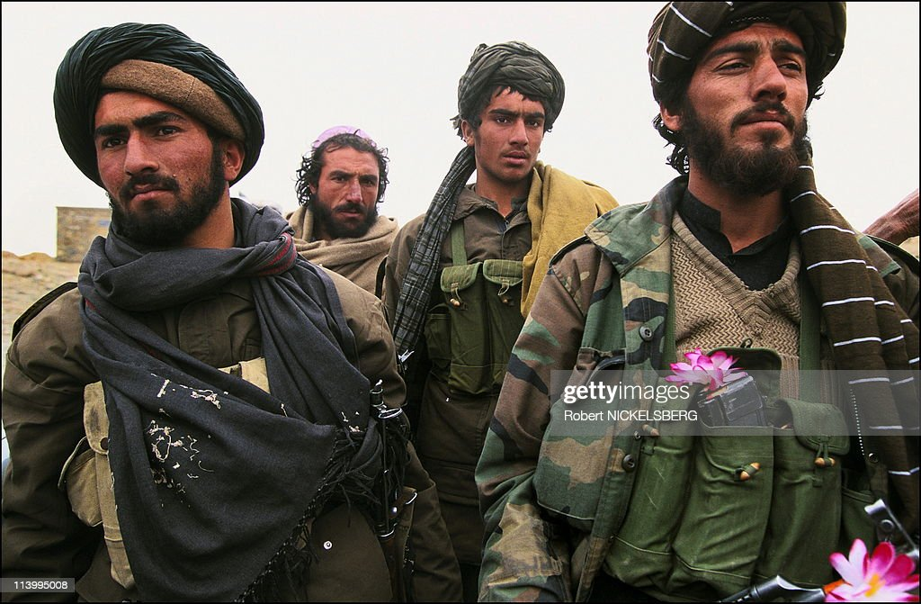 Taleban soldiers In Kabul, Afghanistan In February, 1995- : Nachrichtenfoto