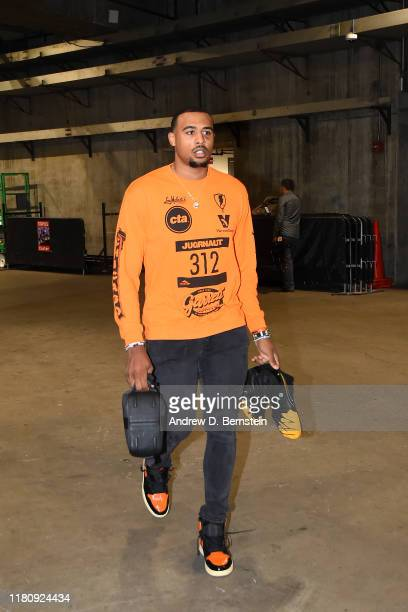 Talen HortonTucker of the Los Angeles Lakers arrives to the game against the Miami Heat on November 8 2019 at STAPLES Center in Los Angeles...