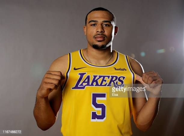 Talen HortonTucker of the Los Angeles Lakers poses for a portrait during the 2019 NBA Rookie Photo Shoot on August 11 2019 at the Ferguson Recreation...