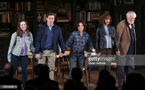 Talene Monahon Hugh Dancy Stockard Channing Megalyn Echikunwoke and John Tillinger during the Opening Night Curtain Call Bows for the Roundabout...