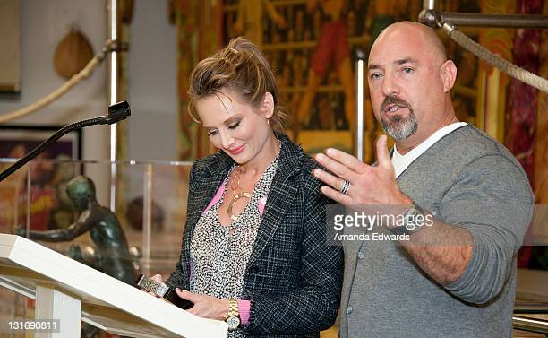 Talent agent Adam Venit and his wife Trina attend the Yahoo Sports Presents A Day Of Champions event at the Sports Museum of Los Angeles on November...