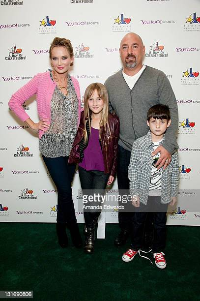 Talent agent Adam Venit his wife Trina and their children Olivia and Matthew attend the Yahoo Sports Presents A Day Of Champions event at the Sports...