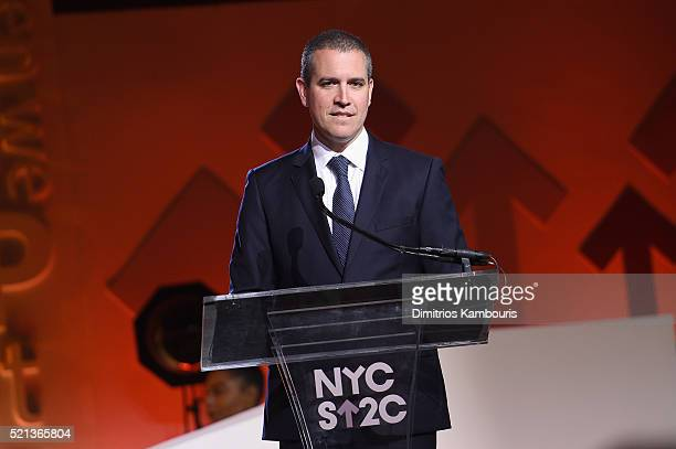 'NEW YORK NEW YORK APRIL 09 Talent agent and event chair Jim Toth speaks onstage during Entertainment Industry Foundation Presents Stand Up To...