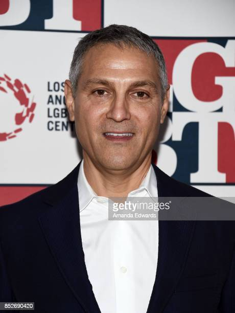 Talent agent Ari Emanuel arrives at the Los Angeles LGBT Center's 48th Anniversary Gala Vanguard Awards at The Beverly Hilton Hotel on September 23...