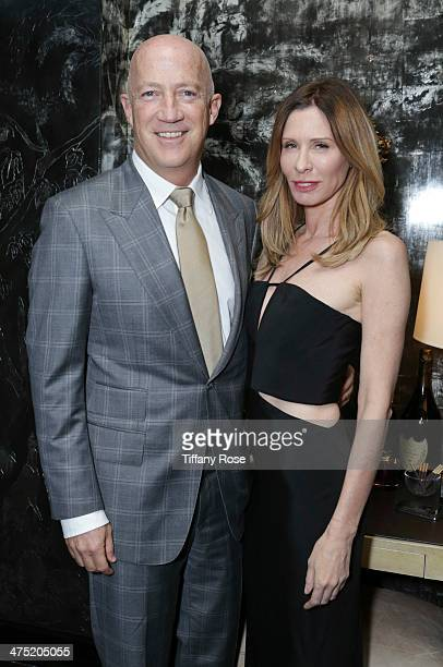 Talent agent Bryan Lourd and TV personality Carole Radziwill attend VIOLET GREY Honors Elizabeth Taylor At She's So Violet Salon Dinner on February...