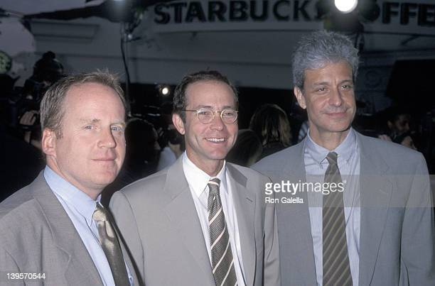 Talent agent David O'Connor talent agent Richard Lovett and talent agent Rick Nicita attend the Hollow Man Westwood Premiere on August 2 2000 at Mann...
