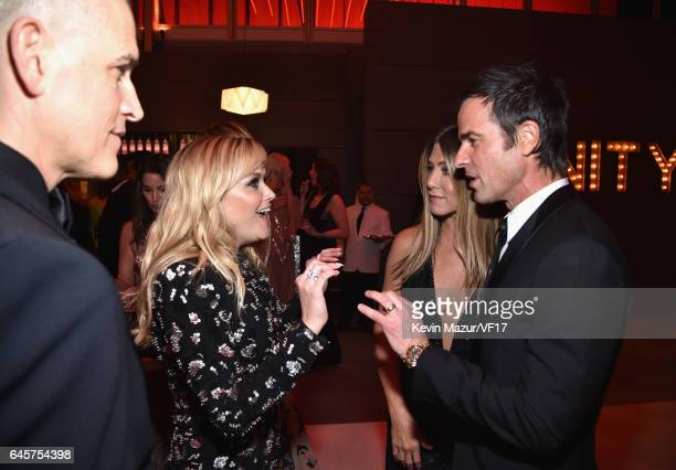 Talent Agent Jim Toth actors Reese Witherspoon Jennifer Aniston and Justin Theroux attends the 2017 Vanity Fair Oscar Party hosted by Graydon Carter...