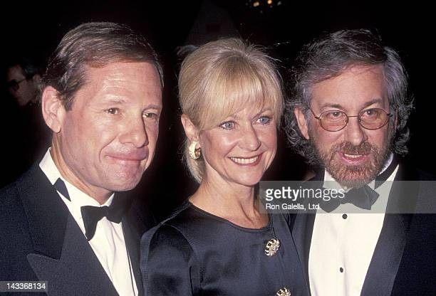 Talent agent Michael Ovitz and wife Judy Ovitz and director Steven Spielberg attend the American Committee for the Weizmann Institute of Science's...
