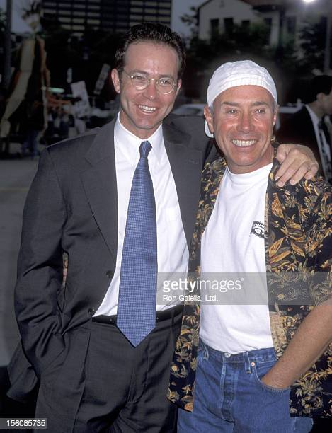Talent Agent Richard Lovett and Producer David Geffen attend the 'Saving Private Ryan' Westwood Premiere on July 21 1998 at Mann Village Theatre in...