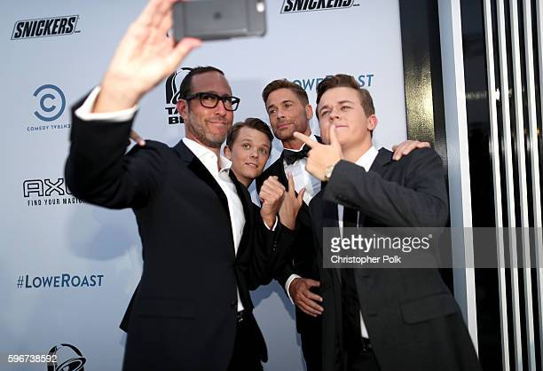 Talent Agent Richard Weitz Matthew Edward Lowe honoree Rob Lowe and John Owen Lowe attend The Comedy Central Roast of Rob Lowe at Sony Studios on...