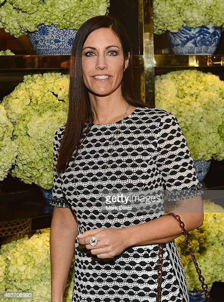 Talent agent Tracy Brennan attends the Tory Burch Rodeo Drive Flagship Opening at Tory Burch on January 14 2014 in Beverly Hills California
