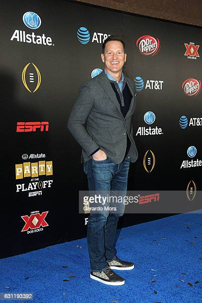 ESPN talent and former football player Danny Kanell poses on the blue carpet during the Allstate Party At The Playoff on January 7 2017 in Tampa...