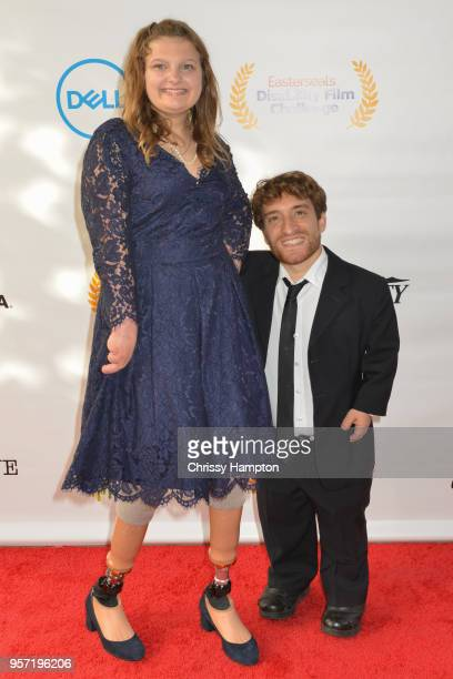 Talent Emily Hopper actor Nic Novicki arrive on the red carpet of United Talent Agency's 5th Annual Easterseals Disability Film Challenge Awards...