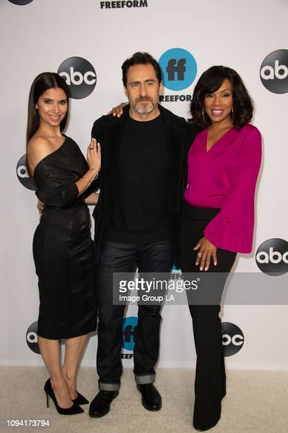 Talent, executives and showrunners from Walt Disney Television via Getty Images and Freeform series arrived at the 2019 TCA Winter Press Tour carpet,...