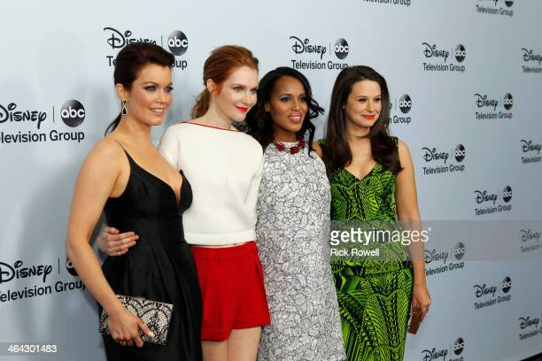 Talent, executives and showrunners from Walt Disney Television via Getty Images arrived at the Viennese Ballroom of The Langham Huntington in...