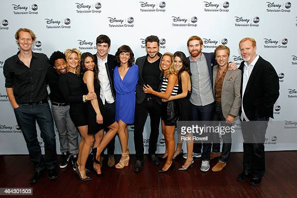 TOUR 2014 Talent executives and showrunners from ABC arrived at the Viennese Ballroom of The Langham Huntington in Pasadena at Disney | ABC...