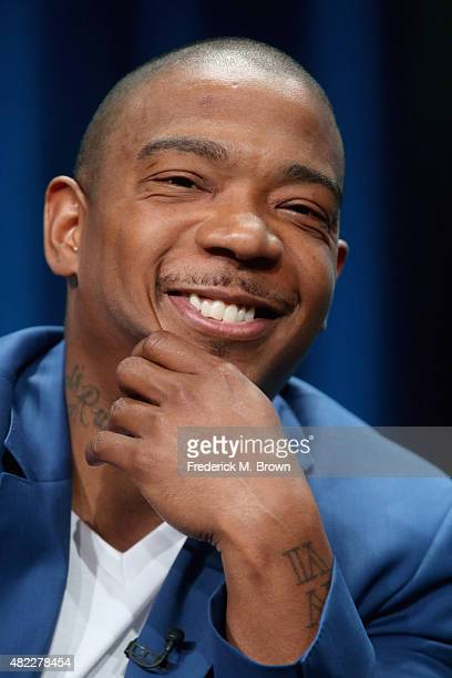 Talent Ja Rule speaks onstage during the Follow the Rules panel discussion at the Viacom Networks portion of the 2015 Summer TCA Tour at The Beverly...