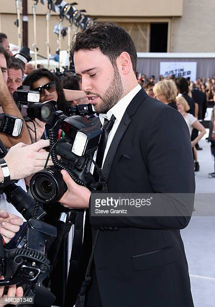 Talent manager Scooter Braun attends The Comedy Central Roast of Justin Bieber at Sony Pictures Studios on March 14 2015 in Los Angeles California