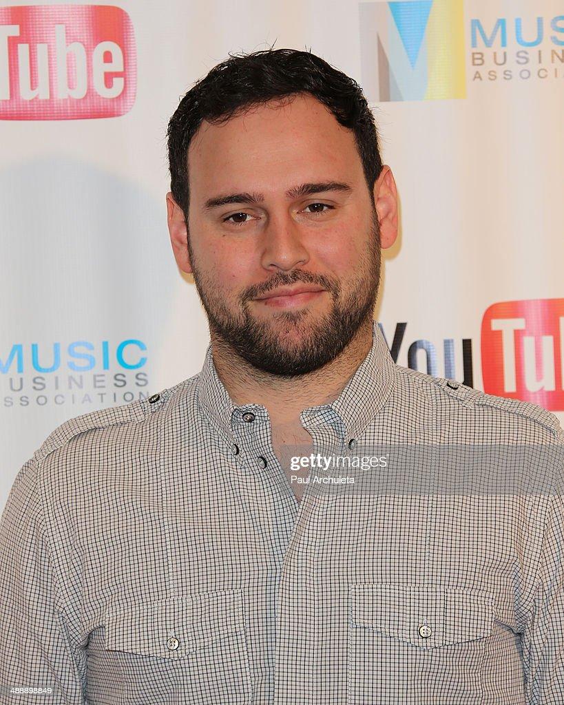 Talent Manager Scooter Braun attends the Music Biz 2014